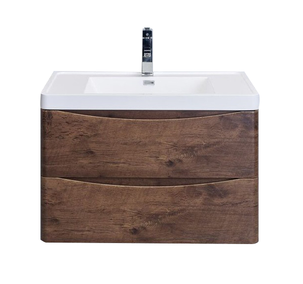 "EVVN760 30RSWD WM A Main - Eviva Smile 30"" Rosewood Modern Bathroom Vanity Set with Integrated White Acrylic Sink"