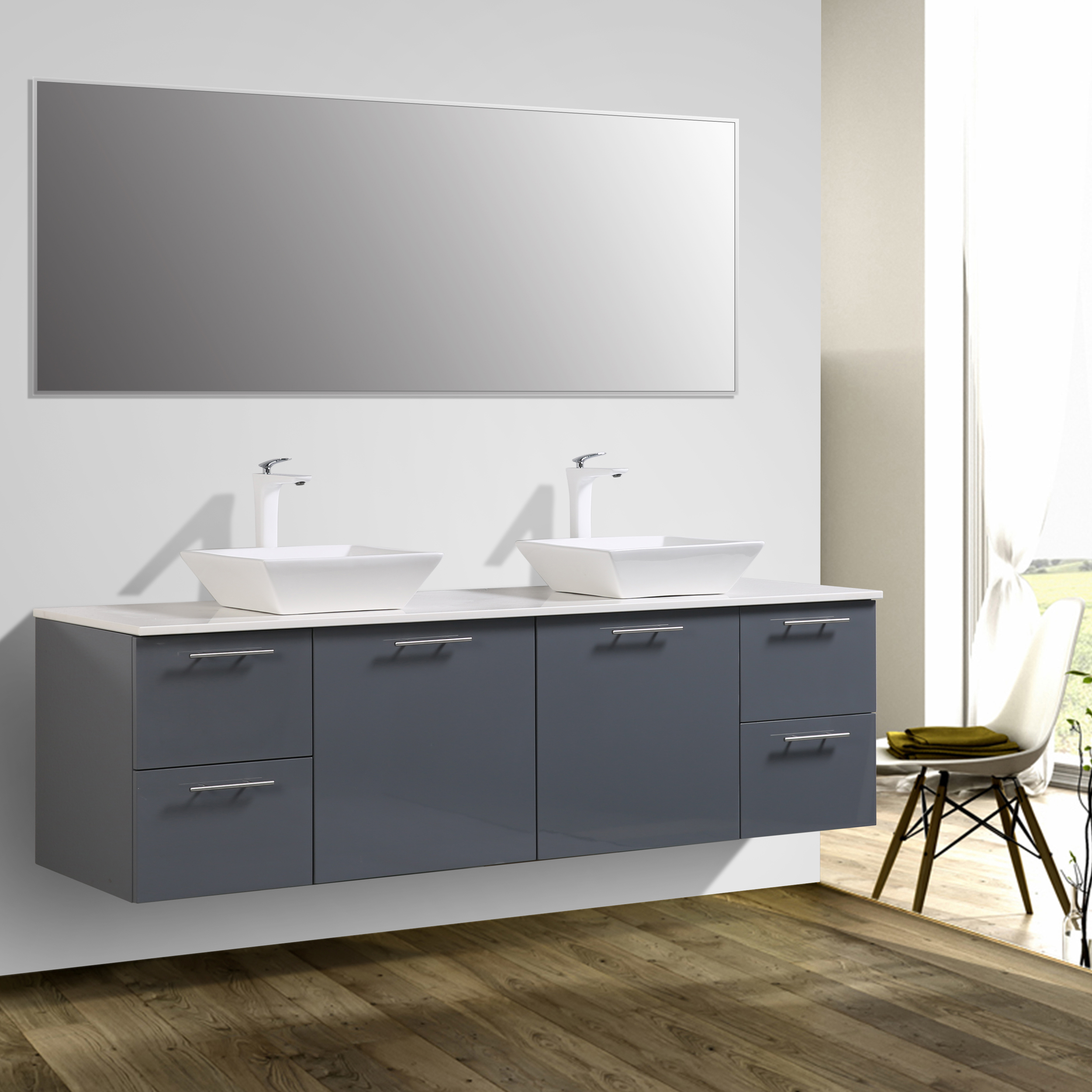 tempered product glass with mount wall bathroom set single vanity sinks portland element in vanities vessel sink design madrid espresso