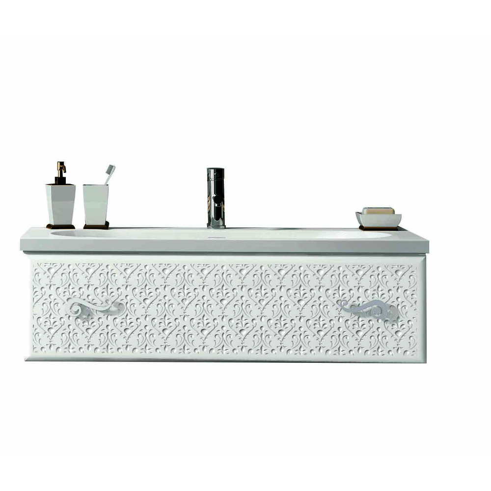 """eviva venice 32"""" white modern luxury bathroom vanity with white"""