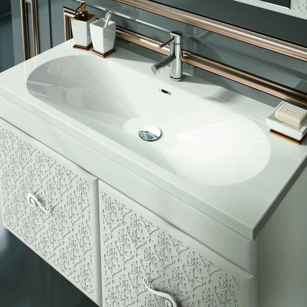 Superieur Eviva Venice 32u2033 White Modern Luxury Bathroom Vanity With White Porcelain  Integrated Sink.