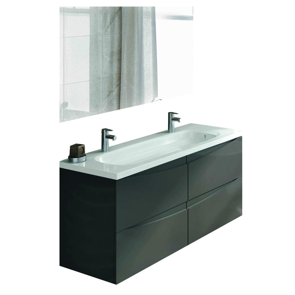 "eviva rome 48"" grey modern luxury bathroom vanity with integrated"