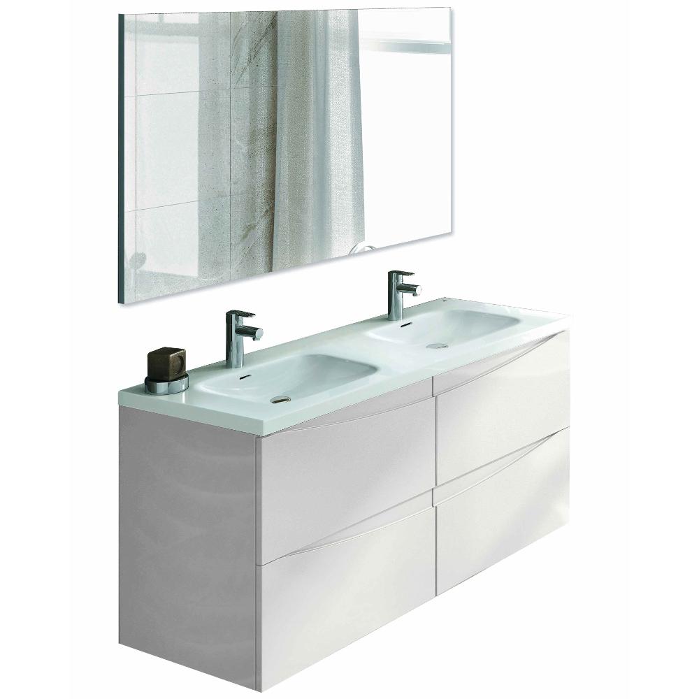 "eviva rome 48"" white modern luxury bathroom vanity with integrated"