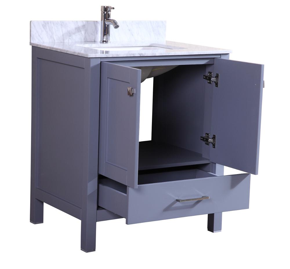 Totti Shaker 30 Quot Transitional Grey Bathroom Vanity
