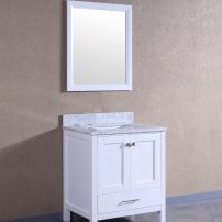 """TVN299 30WH A 01 202x202 - Totti Shaker 30"""" Transitional White Bathroom Vanity with White Carrera Countertop"""