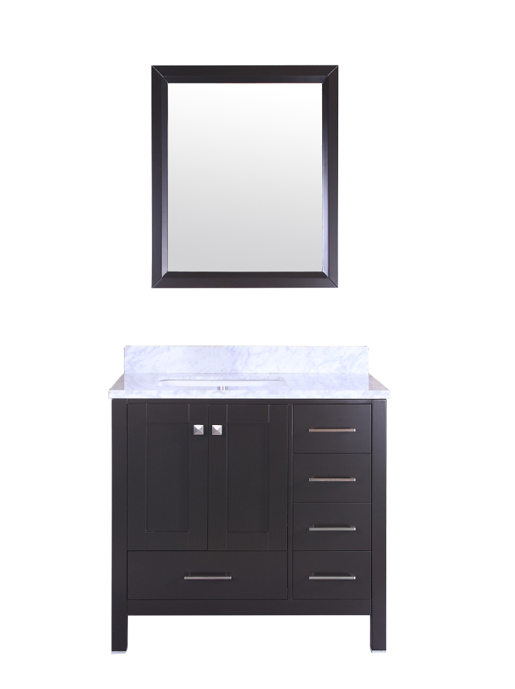 Decorsus totti shaker 36 inch espresso bathroom vanity for 36 inch espresso bathroom vanity