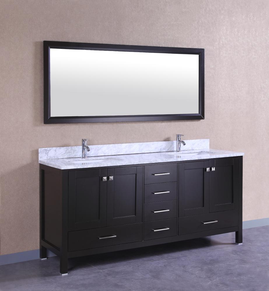 Decorsus Totti Shaker 72 Inch Espresso Bathroom Vanity