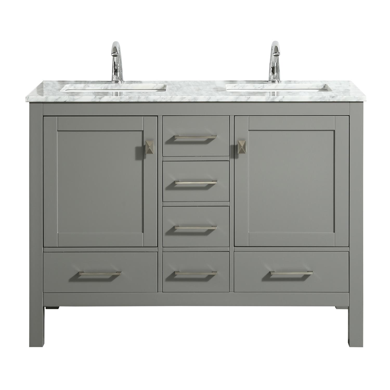 "Eviva London 48"" X 18"" Transitional Gray bathroom vanity ..."