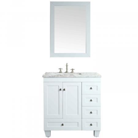 "Eviva Acclaim C. 28"" Transitional White Bathroom Vanity ..."