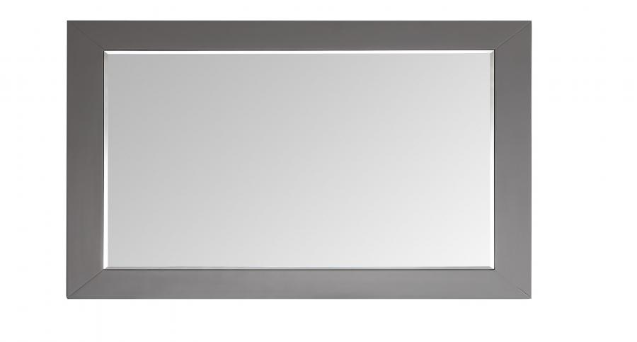 "eviva aberdeen 60"" grey framed bathroom wall mirror"